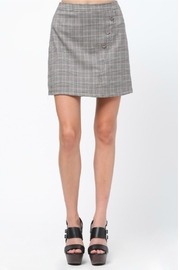 Very J Plaid A-Line Skirt - Front cropped