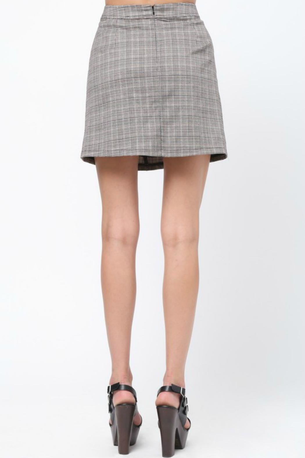 Very J Plaid A-Line Skirt - Side Cropped Image