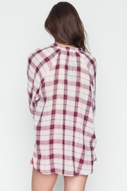 Very J Plaid Crossover Top - Side cropped