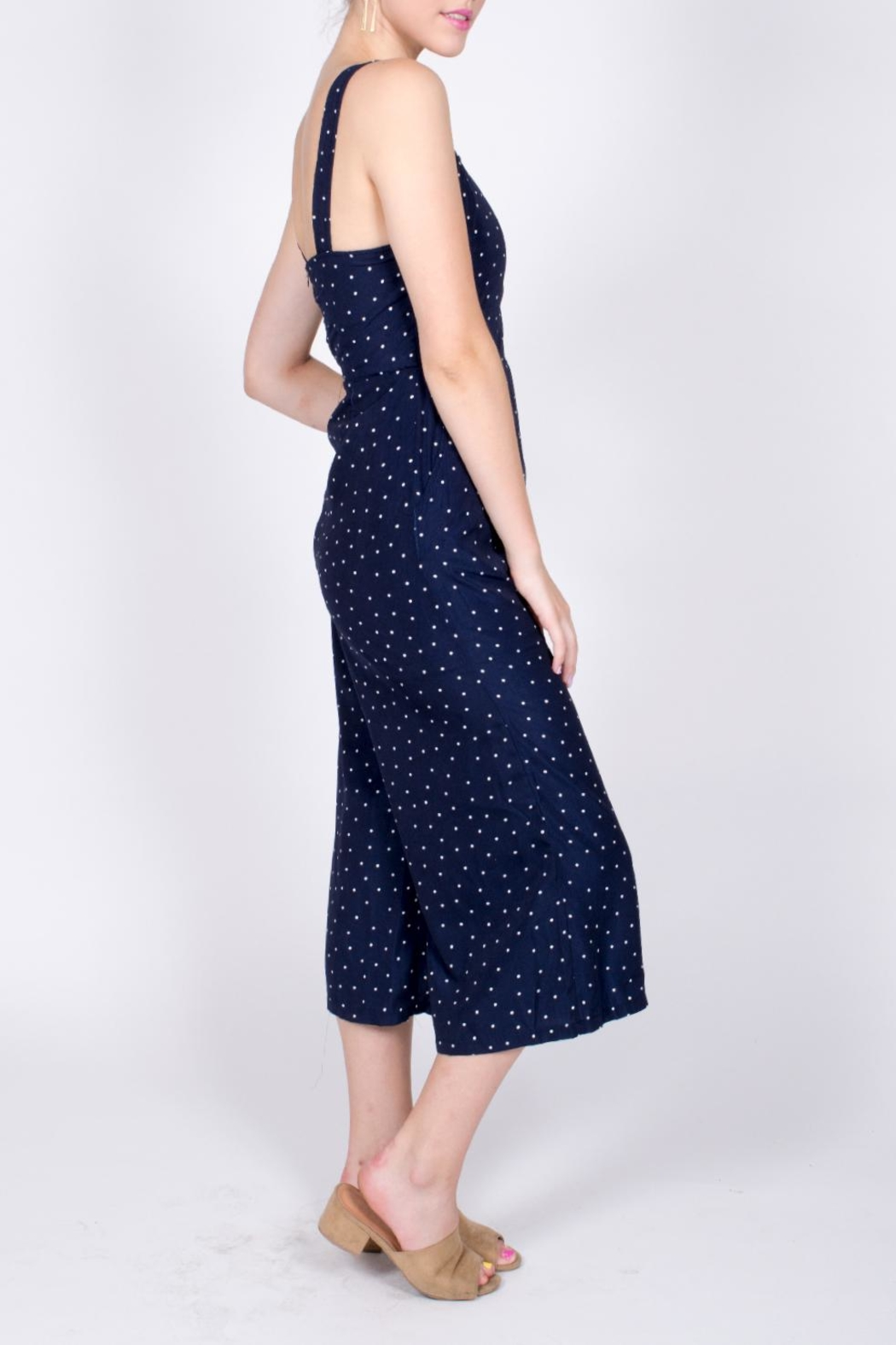 Very J Polka Dot Jumpsuit - Side Cropped Image