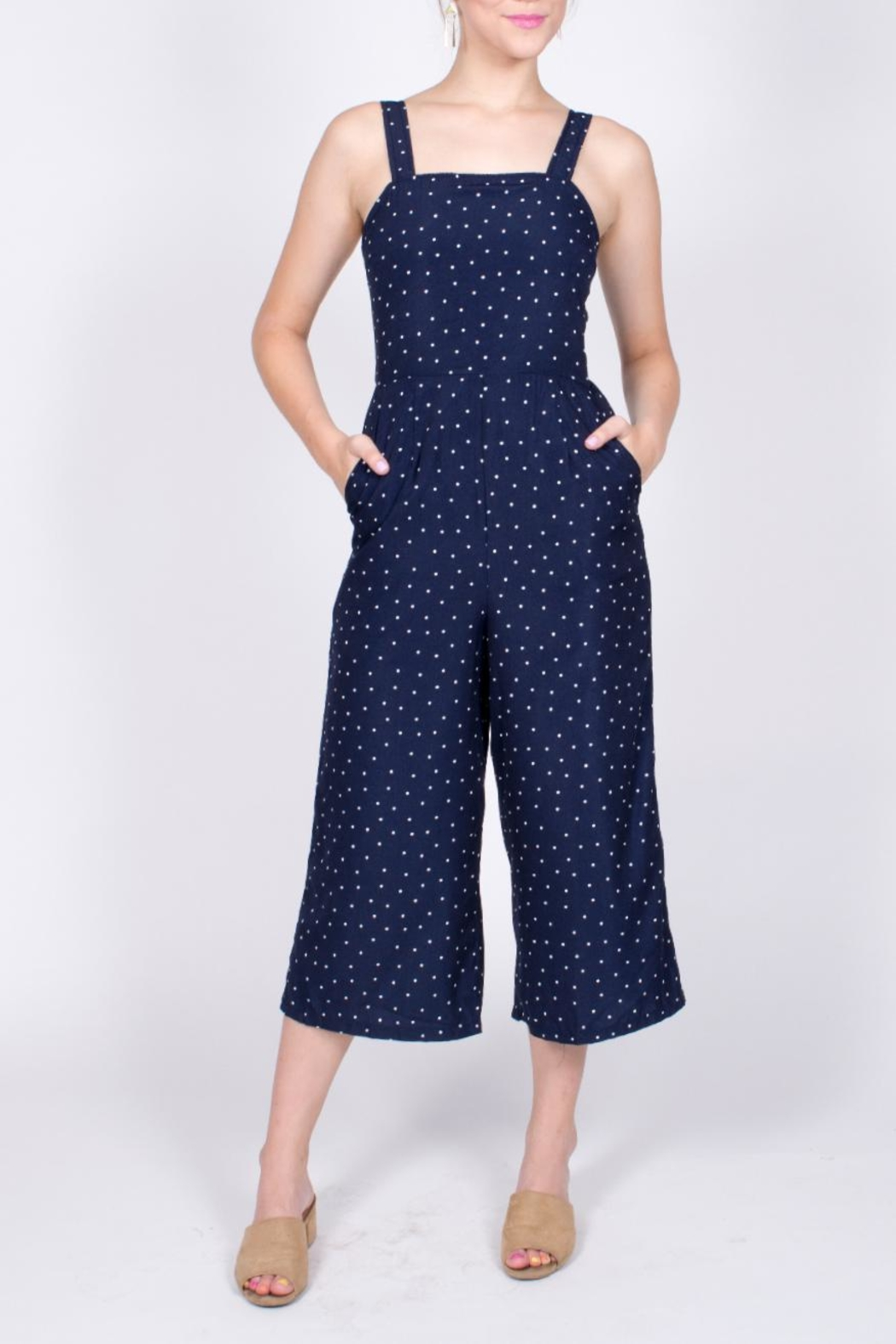 Very J Polka Dot Jumpsuit - Main Image