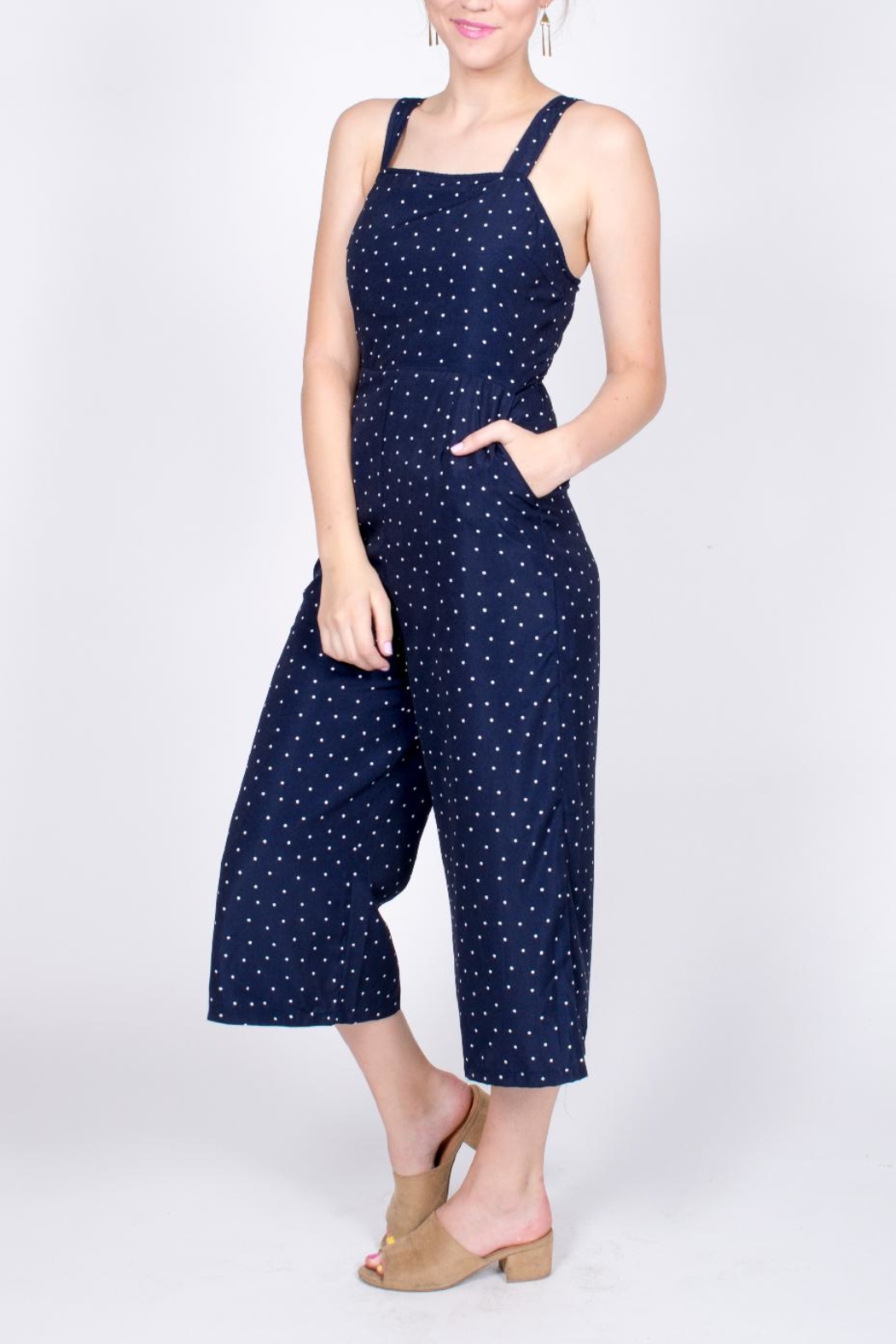 Very J Polka Dot Jumpsuit - Front Full Image
