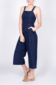 Very J Polka Dot Jumpsuit - Front full body