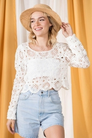 Very J Round Neck Crochet Top - Other