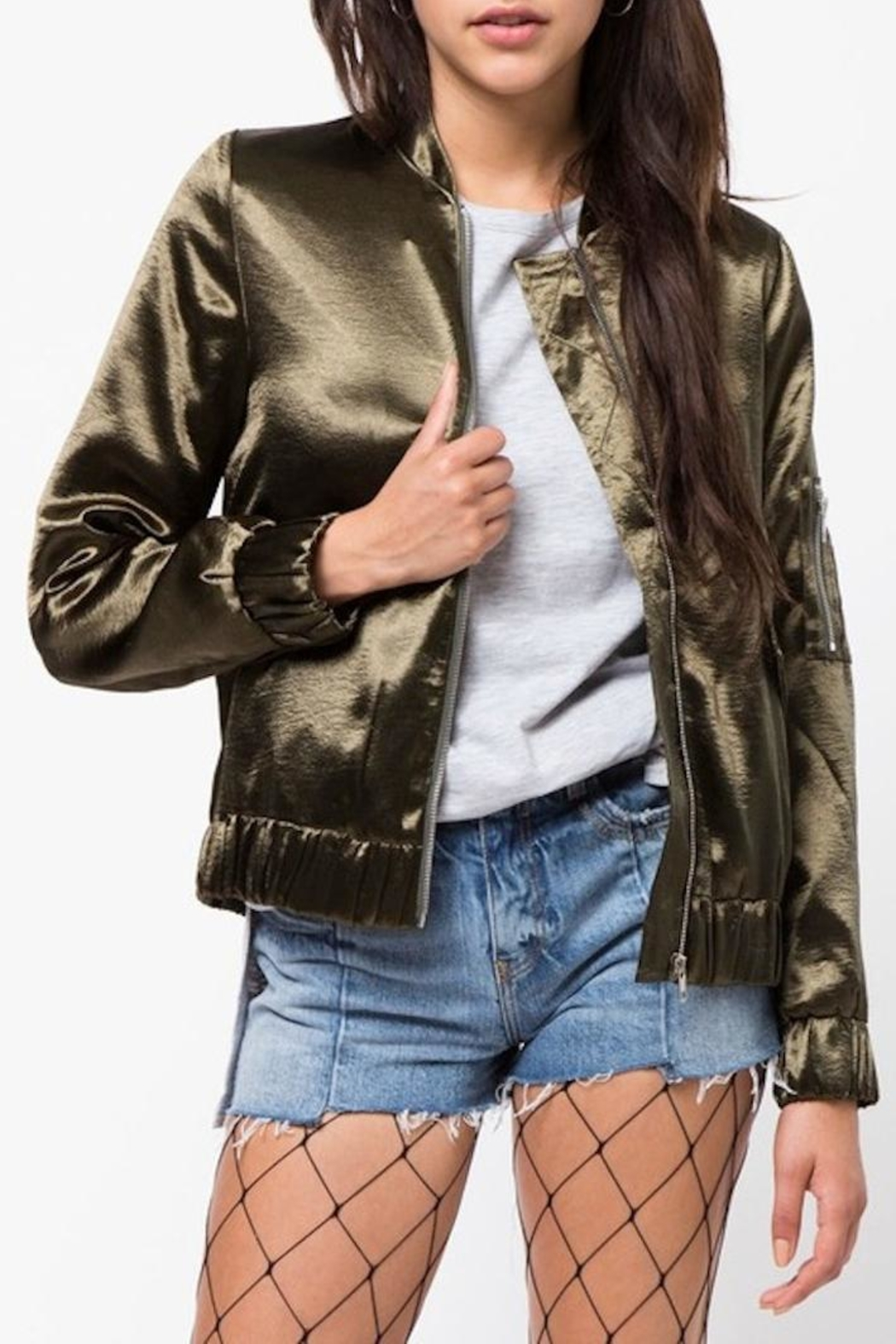 lowest price superior materials superior performance Very J Satin Bomber Jacket from Louisiana by Yipsy Boutique ...