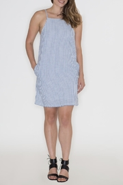 Very J Striped Denim Dress - Back cropped