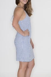 Very J Striped Denim Dress - Front full body