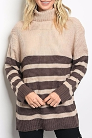 Very J Striped Turtleneck - Product Mini Image
