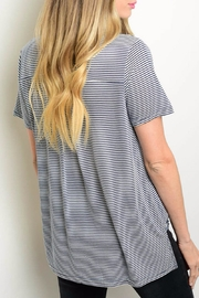 Very J Stripped Collar Top - Front full body