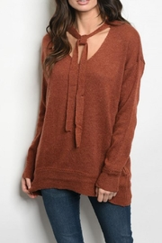 Very J Sweater Tunic - Front cropped