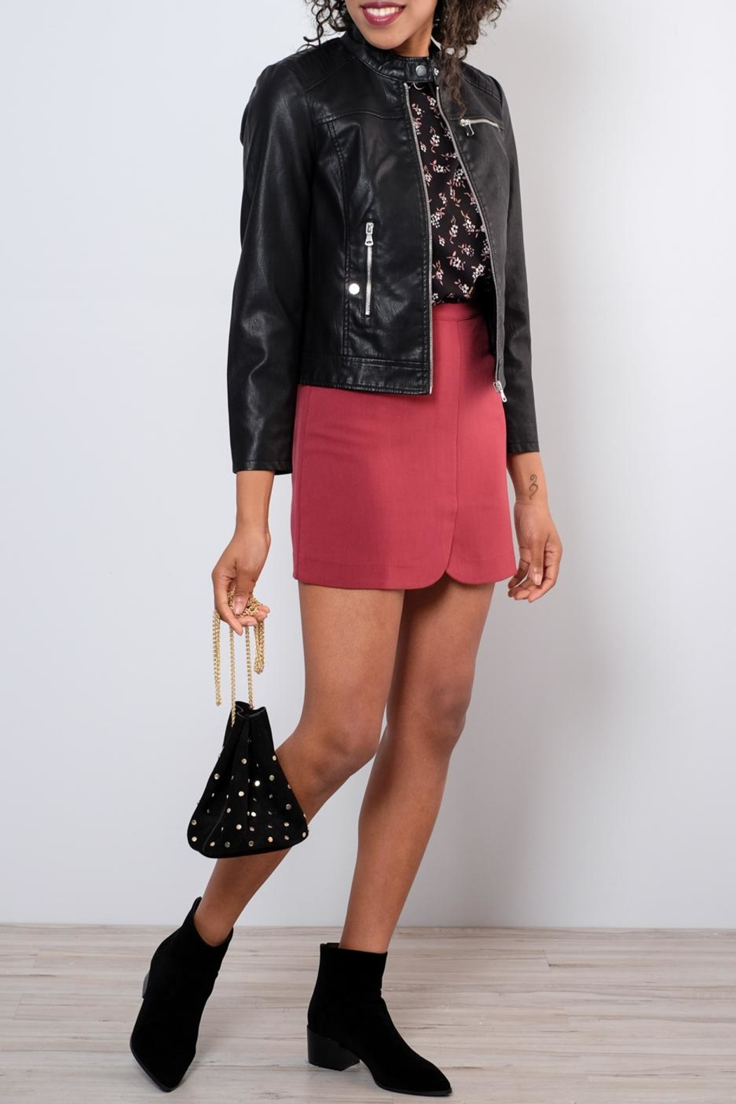 Very J Tailored Miniskirt - Back Cropped Image