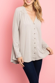 Very J Taupe Peasant Top - Product Mini Image