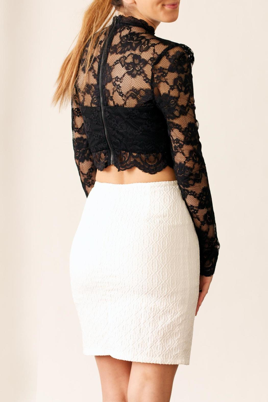 Very J Textured Skirt - Side Cropped Image