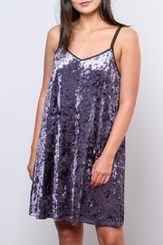 Very J Velvet Slip Dress - Product Mini Image
