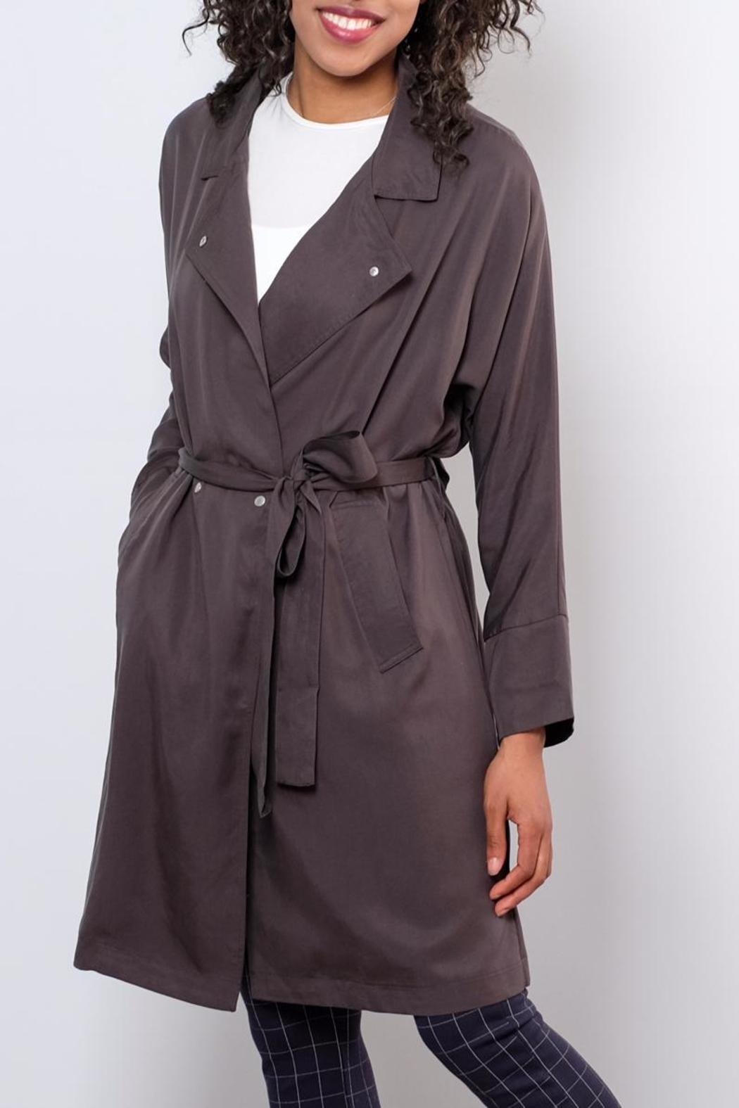 Very J Victoria Trench Coat - Front Full Image