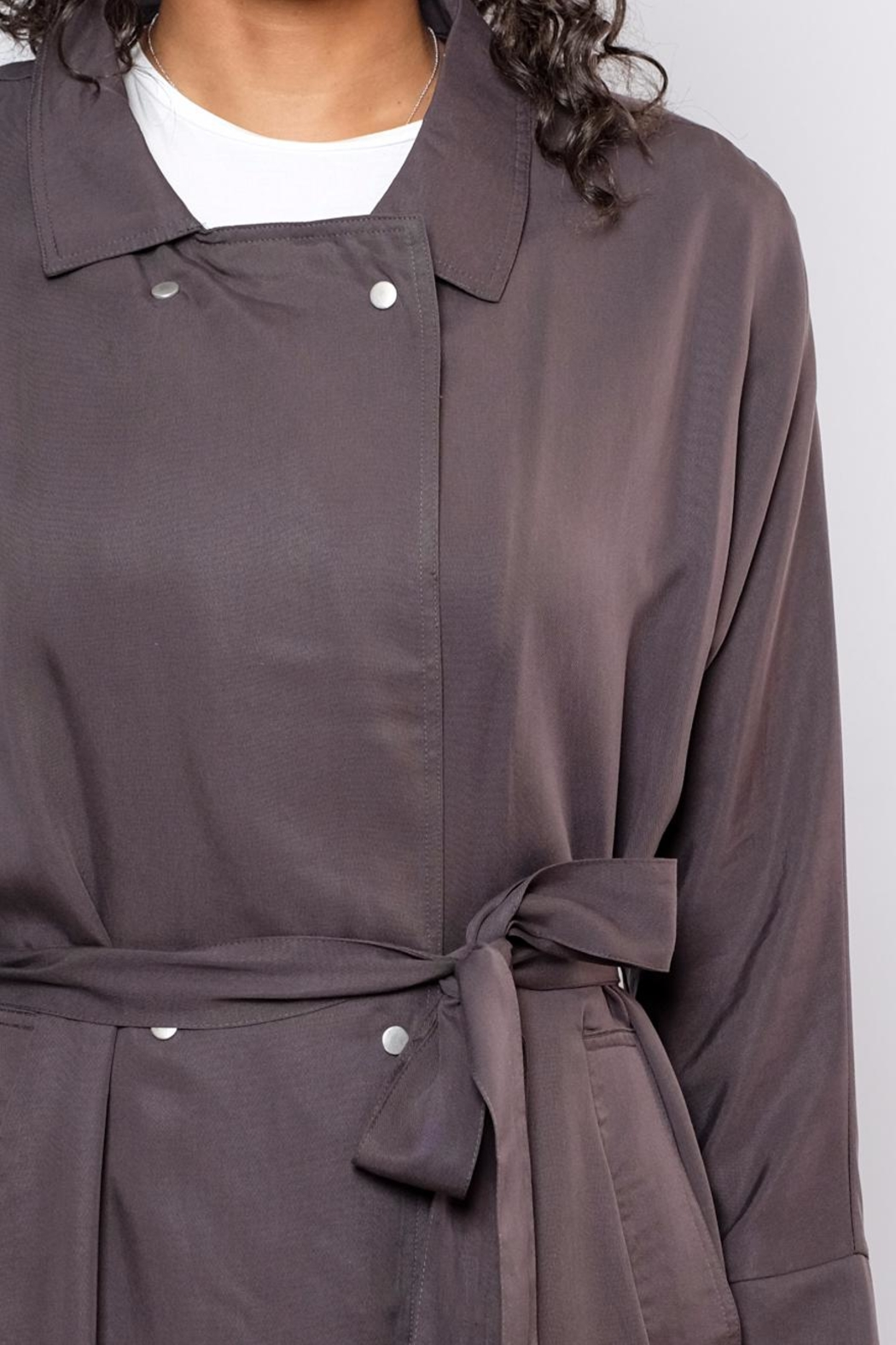 Very J Victoria Trench Coat - Back Cropped Image