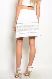 Very J White Crochet Skirt - Front full body