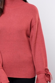 Very J Wide Sleeved Sweater - Back cropped