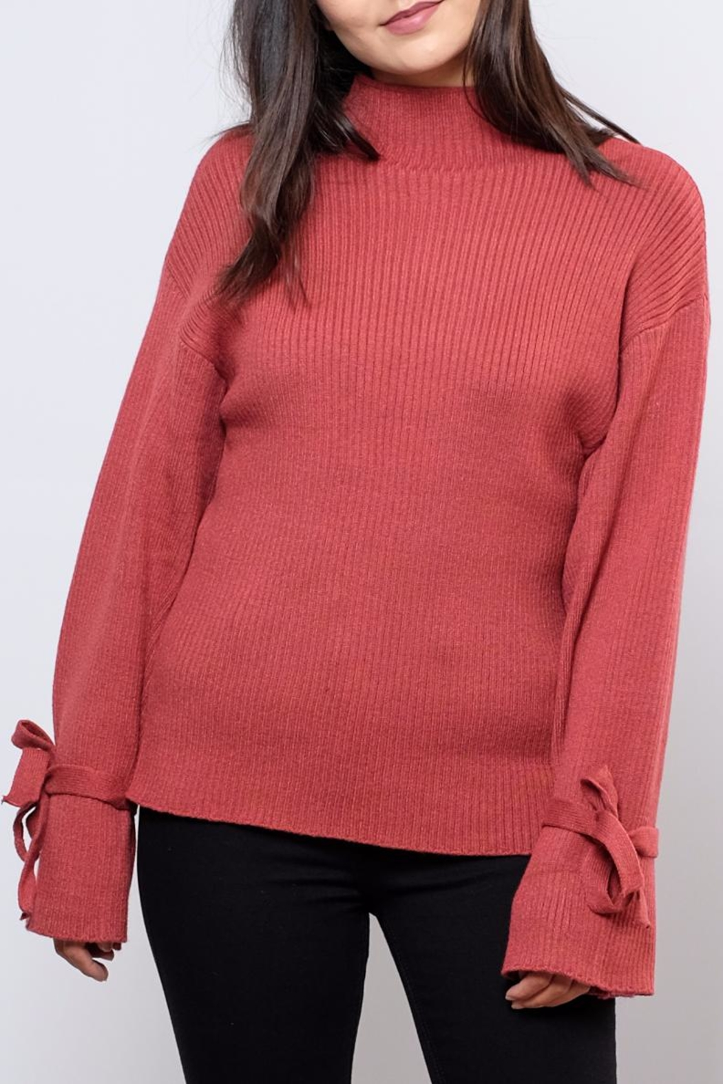 Very J Wide Sleeved Sweater - Main Image