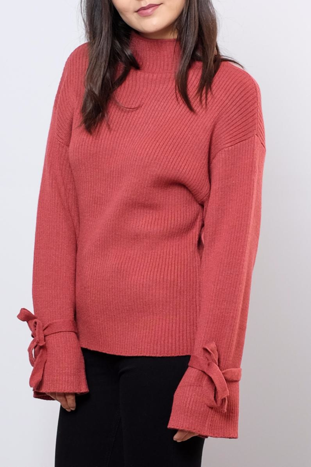 Very J Wide Sleeved Sweater - Front Full Image