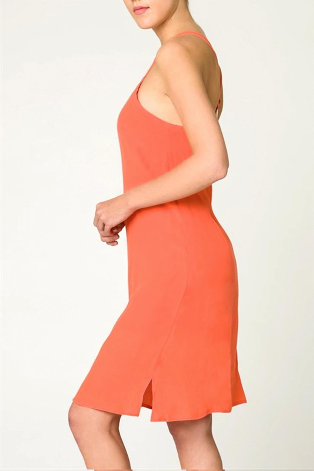 Very J Woven Shift Dress - Side Cropped Image