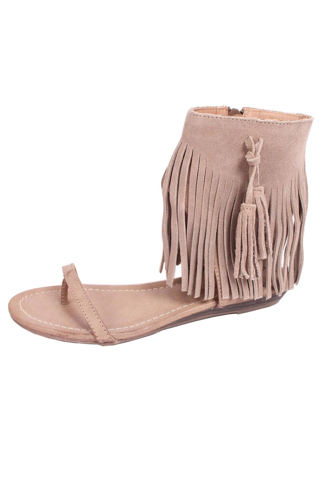 c6dc198f0b0327 Very Volatile Lex Fringe Sandal from Lake City by So-Lace — Shoptiques