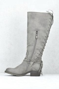 Shoptiques Product: Taupe Lace-Up Boot