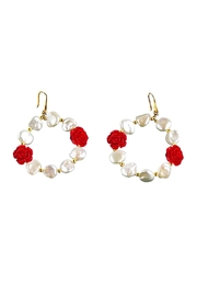Vessel Baroque Pearl Hoops - Front cropped
