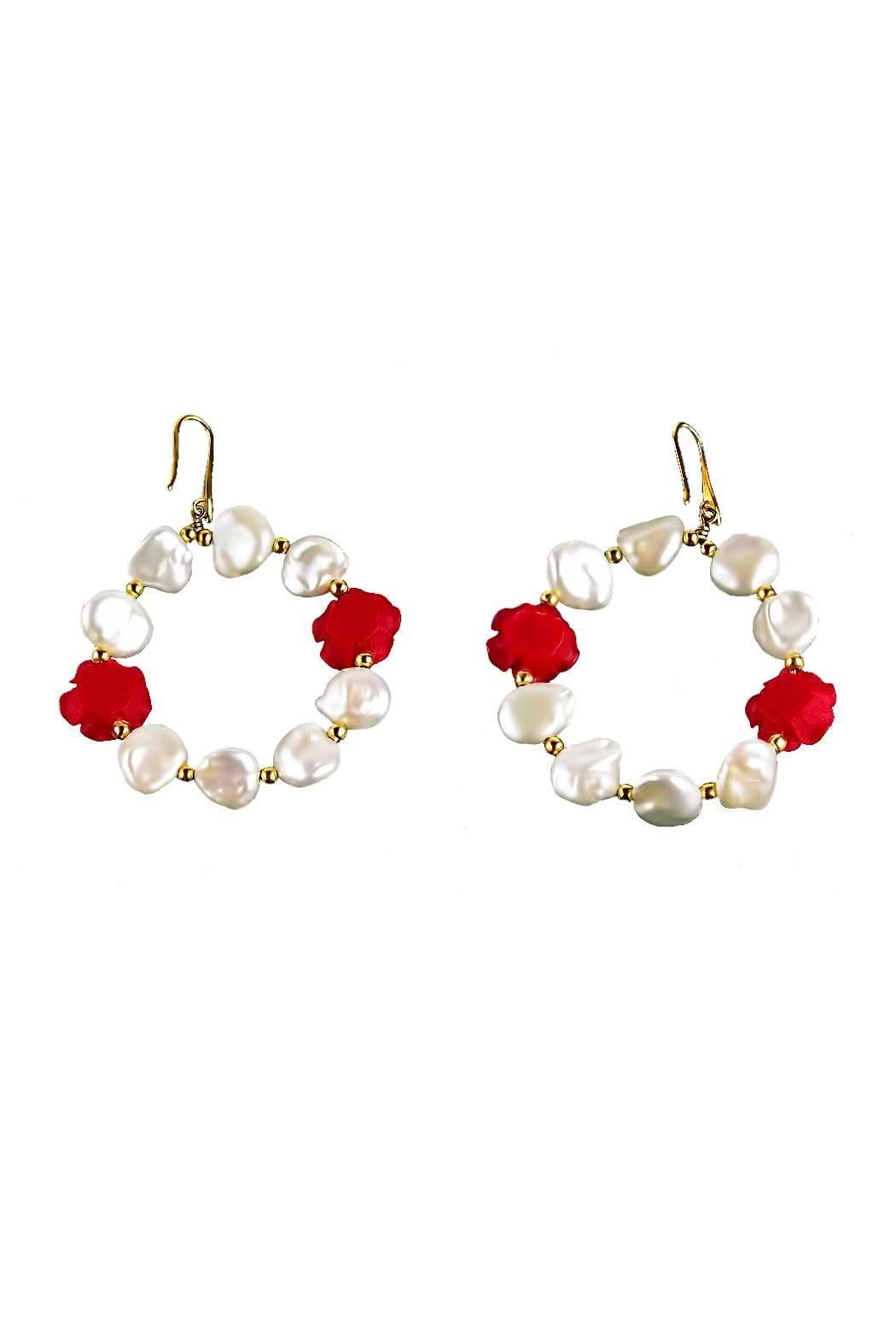 Vessel Baroque Pearl Hoops - Front Full Image