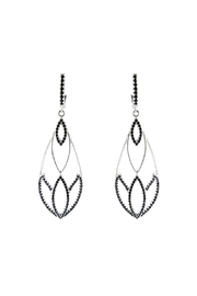 Vessel Black Crystals Earrings - Product Mini Image