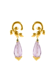Vessel Entwined Amethyst Earrings - Product Mini Image
