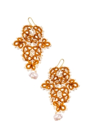 Vessel Gold Tatting Earrings - Front cropped