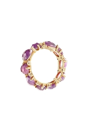 Vessel Purple Stones Ring - Front full body