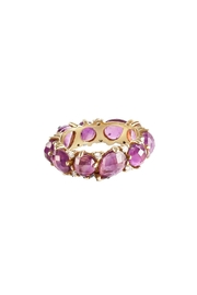 Vessel Purple Stones Ring - Front cropped