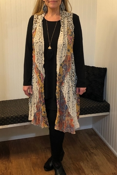 Shoptiques Product: vest mixed pattern and materials