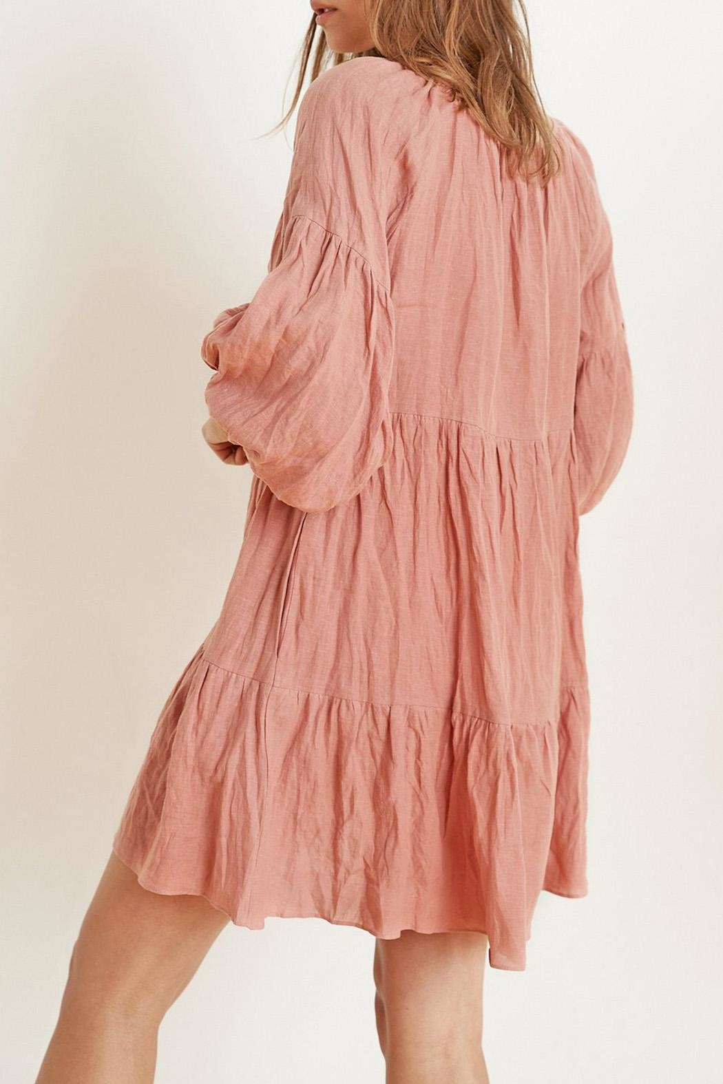 Velvet Vesta Tiered Dress - Side Cropped Image