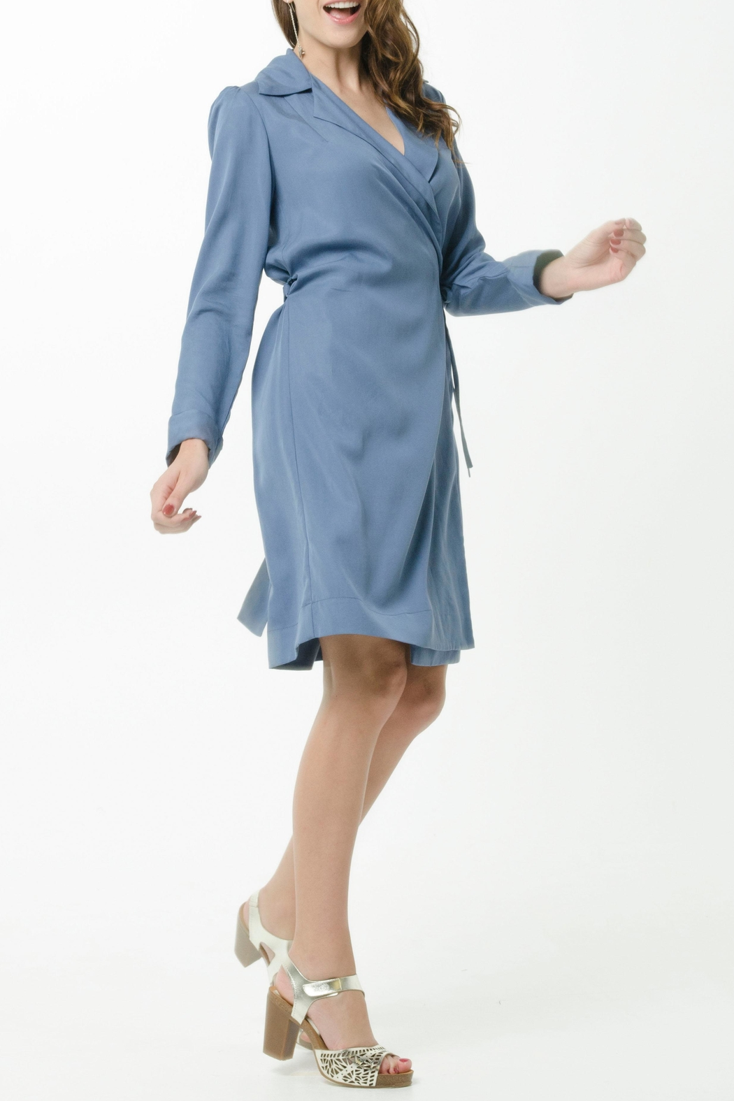 Vesta Wrap Trench Dress - Front Cropped Image