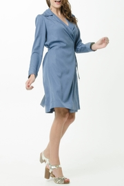 Vesta Wrap Trench Dress - Product Mini Image