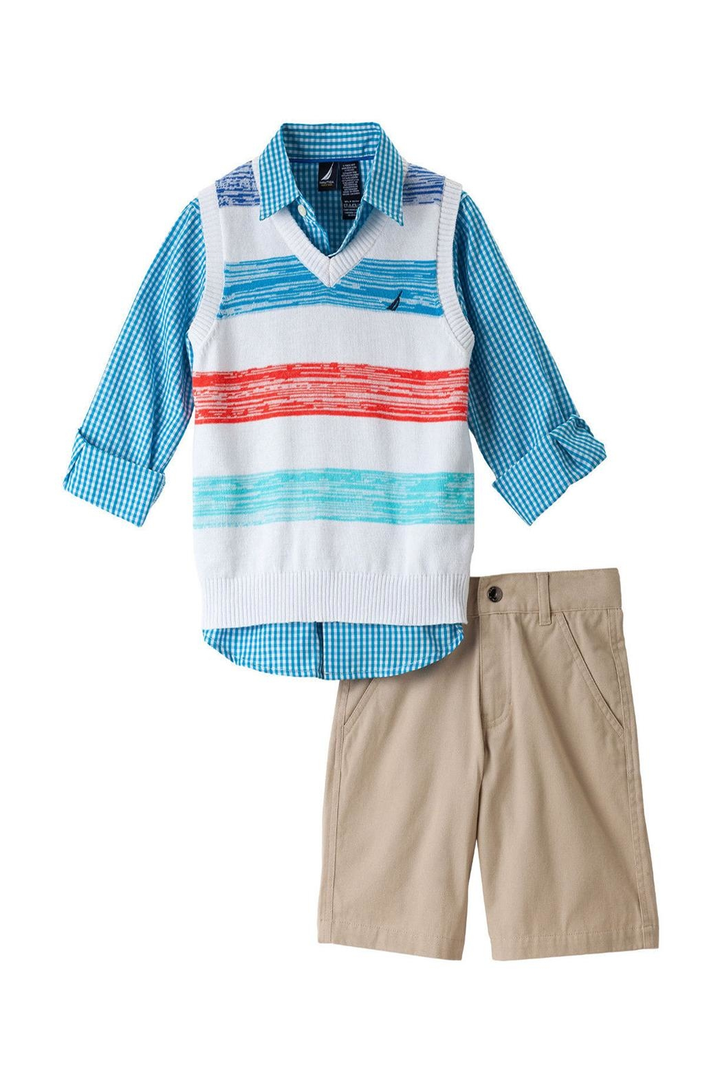 Nautica Vested Shorts Set - Front Cropped Image