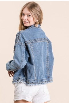 veveret Denim Studded Jacket - Alternate List Image