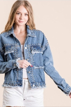 veveret Denim Studded Jacket - Product List Image