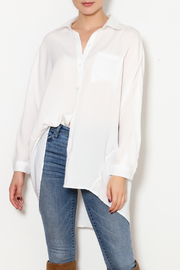 veveret White Satin Top - Product Mini Image