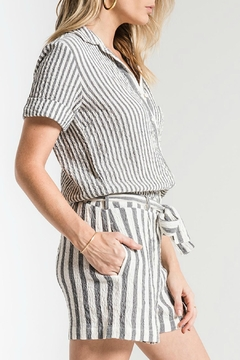 rag poets Vezelas Striped Romper - Alternate List Image