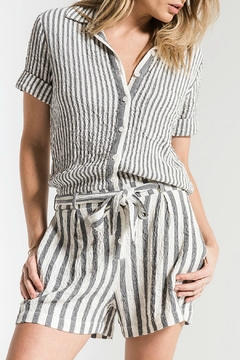 rag poets Vezelas Striped Romper - Product List Image