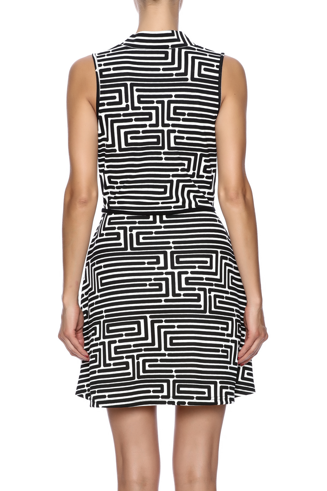 vFish designs Geometric Print Dress - Back Cropped Image
