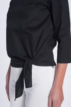 Shoptiques Product: Collared Tie Top