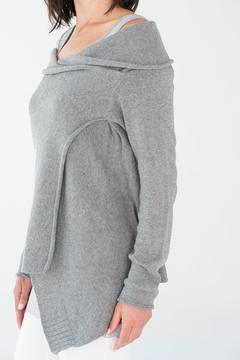 Shoptiques Product: Grey Crossover Sweater