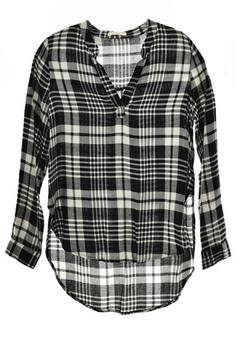 Shoptiques Product: Plaid Hi-Lo Top