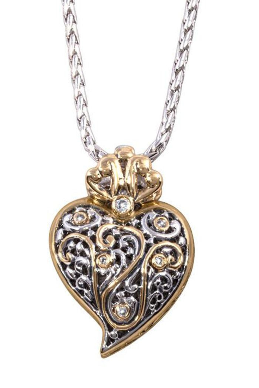JOHN MEDEIROS Viana Filigree Heart-Pendant-Necklace - Front Cropped Image