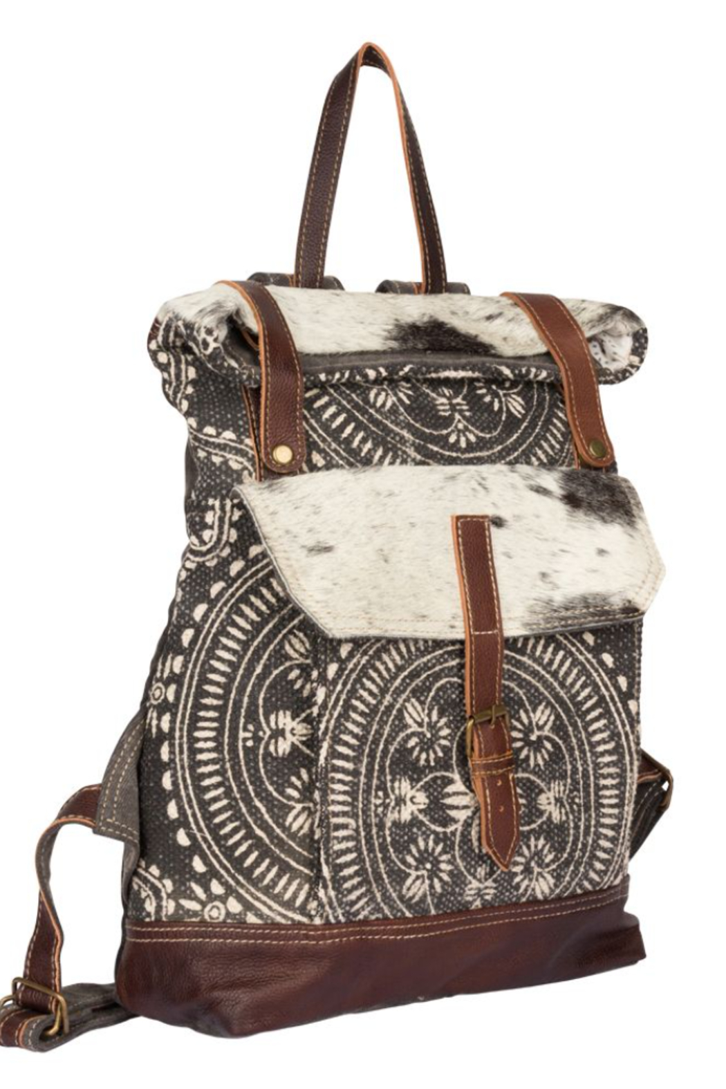 Myra bag  Vibe With Me Cowhide Backpack Bag - Front Full Image